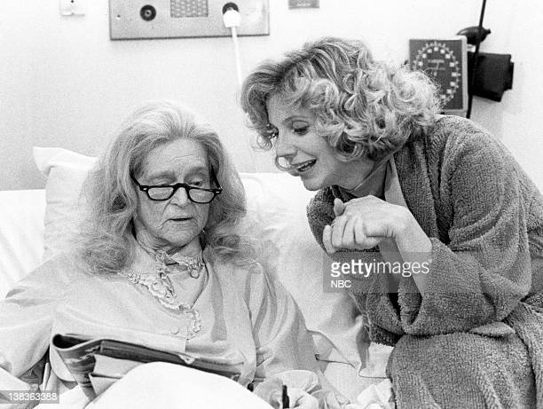 ST ELSEWHERE 'The Women' Episode 19 Pictured Eva Le Gallienne as Evelyn Milbourne Blythe Danner as Paige Gerradeaux