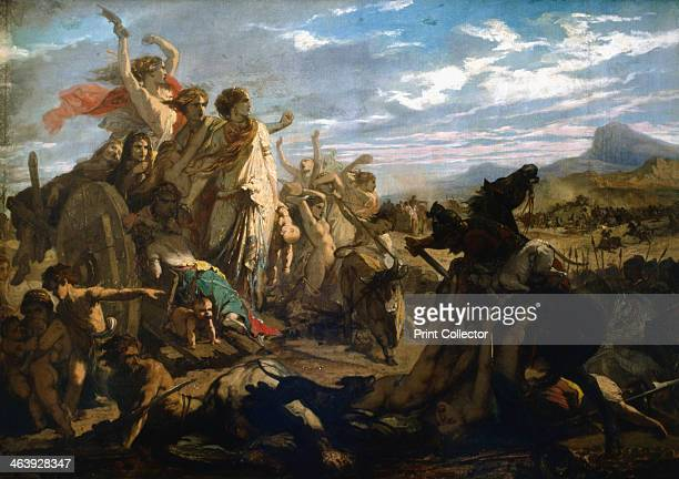 'The Women of Gaul' c18271893 An episode during the Roman invasion of Gaul Women and children look on in anguish as the Gaulish men are slaughtered...