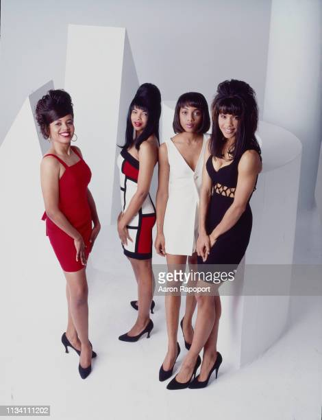 The women of soul RB group En Vogue pose for a portrait in December 1993 in Los Angeles California