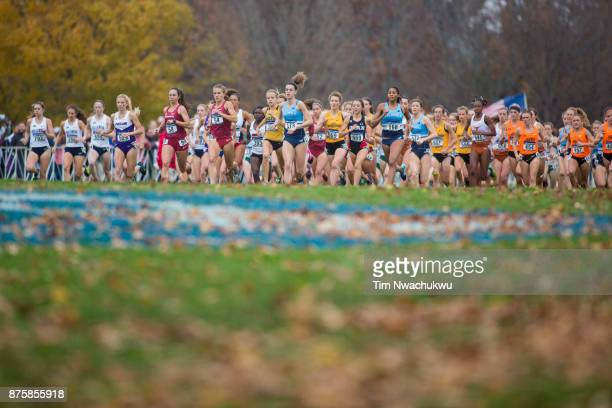 The women's 6k run begins the Division I Women's Cross Country Championship held at EP Tom Sawyer Park on November 18 2017 in Louisville Kentucky
