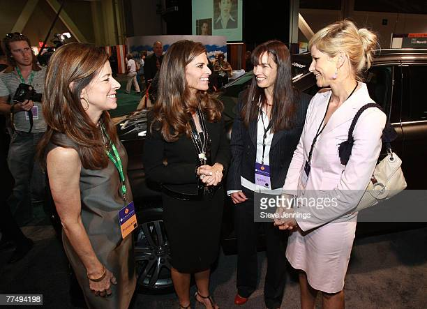 The Women's Conference Executive Director Erin Mulcahy Stein First Lady Maria Shriver Dr Petra HackenbergWiedl and Audi's Manager Lifestyle...