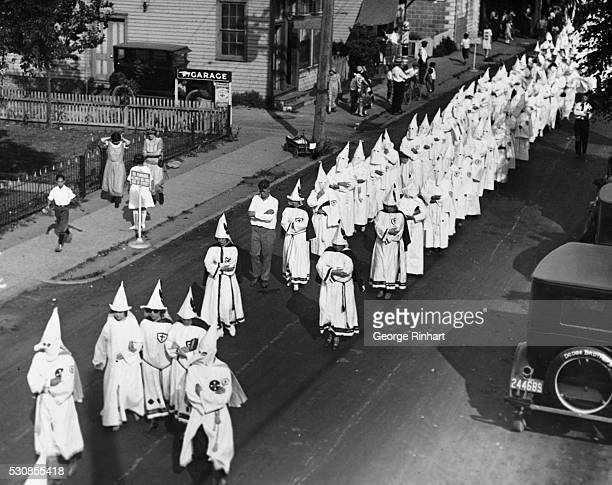 The women's division in the cortege passing through Pleasantville NJ to the cemetery where Adelbert Andridge Kleagle of the Ku Klux Klan for Atlantic...