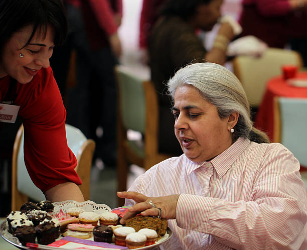 The Women`s Inn at Pine Street held a Valentine`s Day Tea where guest drank from china tea cups and snacked on homemade cookies and treats Rekha Puri.