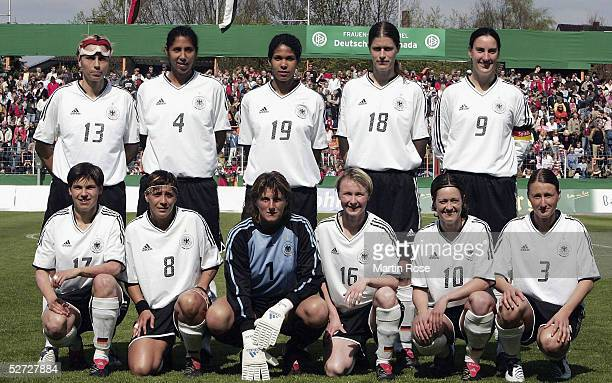 The Women's International German Team pose for a Picture on April 21, 2005 in Osnabruck, Germany.