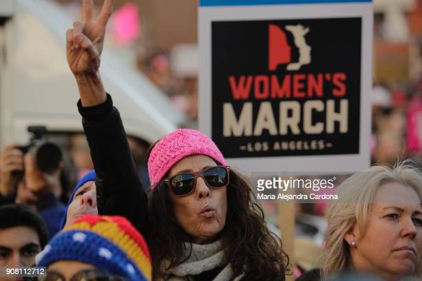 The Women's March of Los Angeles overcame its' prediction of guest more than 200000 people filled downtown Los Angeles Photo by Maria Alejandra...