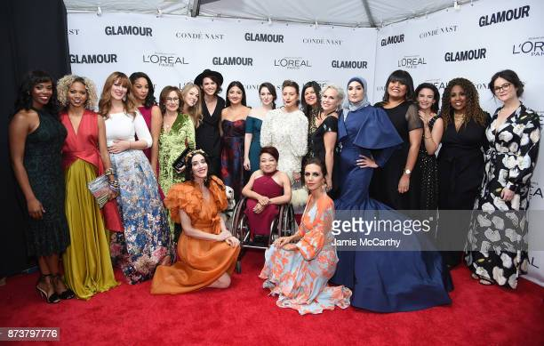 The Women's March Organizers attend Glamour's 2017 Women of The Year Awards at Kings Theatre on November 13 2017 in Brooklyn New York