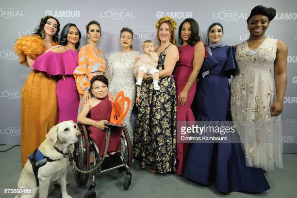 The Women's March Organizers pose at Glamour's 2017 Women of The Year Awards at Kings Theatre on November 13 2017 in Brooklyn New York