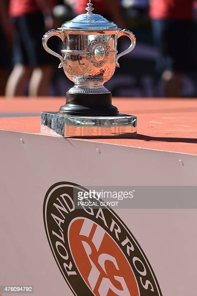 The women's winner trophy of the Roland Garros 2015 French ...