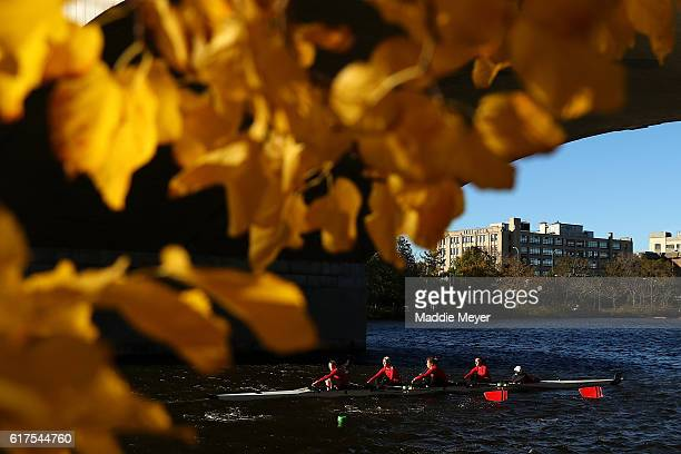 The Women's Youth Fours team from Emma Willard competes during Day 2 of The 52nd Head of the Charles Regatta on October 23 2016 in Cambridge...