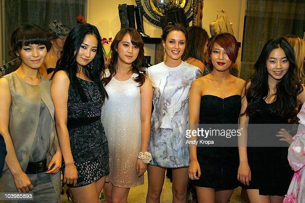 The Wonder Girls and Leighton Meester attend the Roger Vivier celebration of Fashion's Night Out and it's new fragrances at Roger Vivier on September...