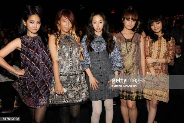 The Wonder Girls attends ANNA SUI Spring 2011 Fashion Show at The Theatre at Lincoln Center on September 15 2010 in New York City