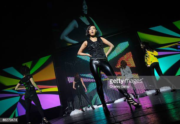 The Wonder Girls perform at the Wiltern theater on March 5 2009 in Los Angeles California
