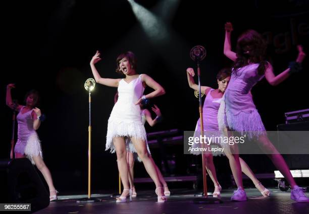 The Wonder Girls perform on stage at the Susquehanna Bank Center on December 9th 2009 in Camden New Jersey United States