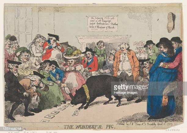 The Wonderful Pig, April 12, 1785. Artist Thomas Rowlandson.