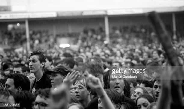 The Wonderstuff perform on stage at Bescot Stadium Walsall United Kingdom 1991