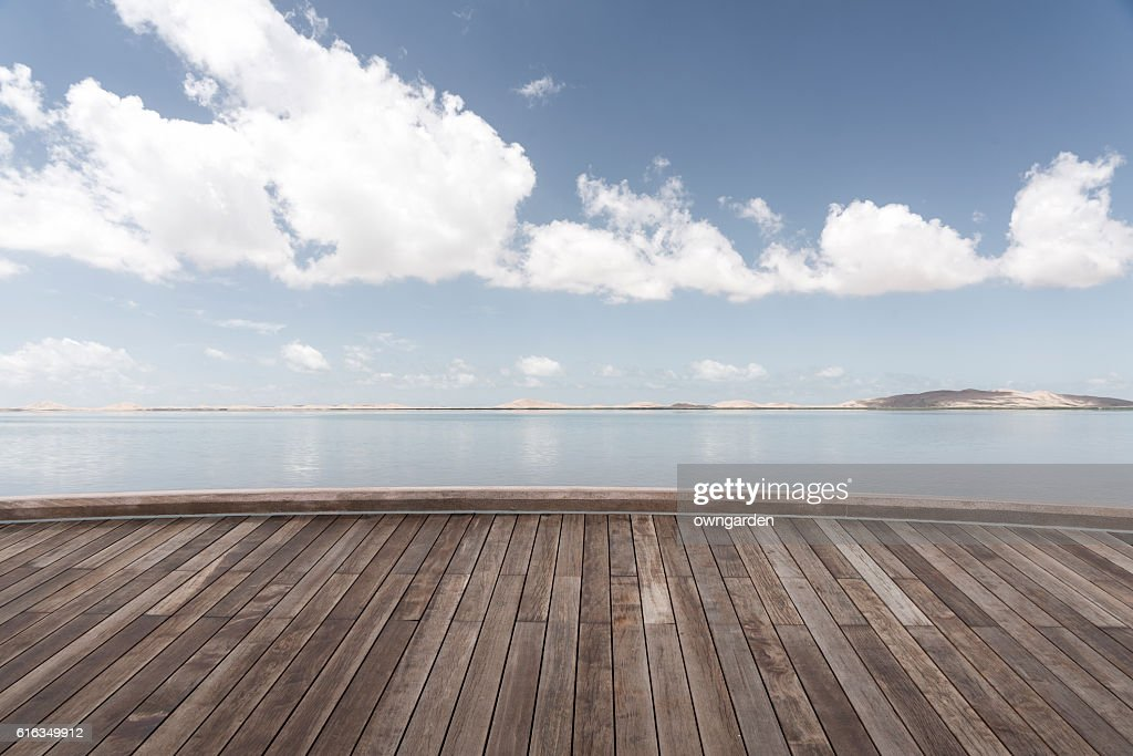 The wood platform : Stock Photo