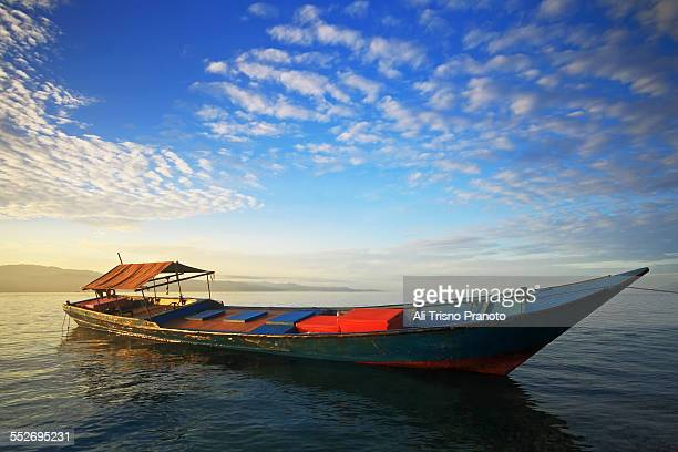 The Wooden boat after sunrise moment