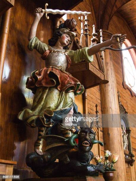 The wooden churches of the Chiloe Archipelago in the Los Lagos Region Region X Chiloe Province Chile are examples of the Chilota style of...