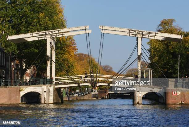 The wooden drawbridge in Amsterdam