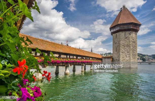 wooden medieval kapellbrücke chapel bridge with