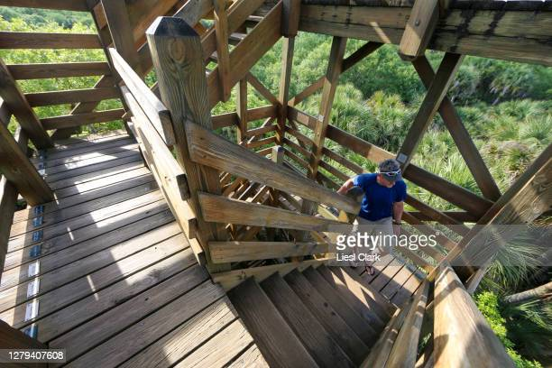 "the wooden tower ""canopy walk"" at myakka river state park, fl - florida us state stock pictures, royalty-free photos & images"