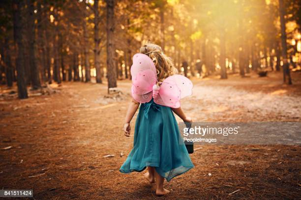 the woods is where i'll be forever - princess stock pictures, royalty-free photos & images