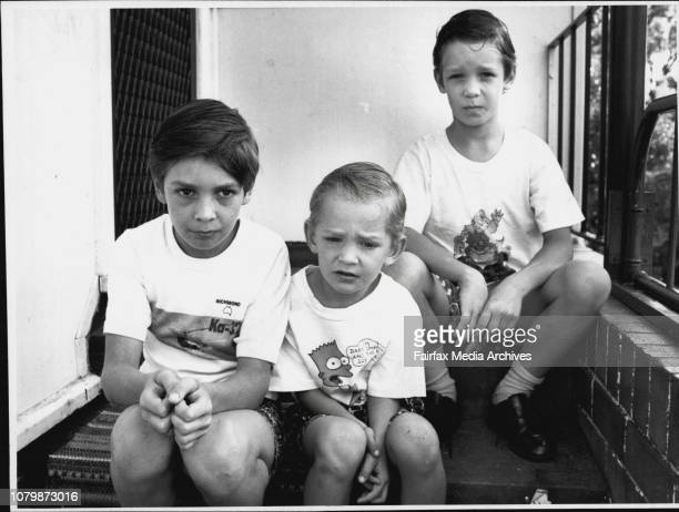 The Woolley Brothers who go to Seven Hills West School Jason 7 left Justin 9 and Jeremey 4 April 17 1993
