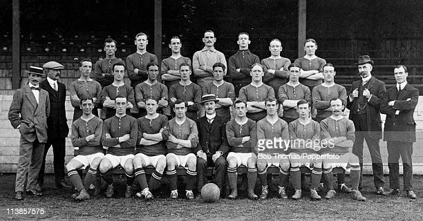 The Woolwich Arsenal Squad and Officials for the 19111912 season at Plumstead in London circa September 1911 Back row J Peart G Grant J Shaw G...