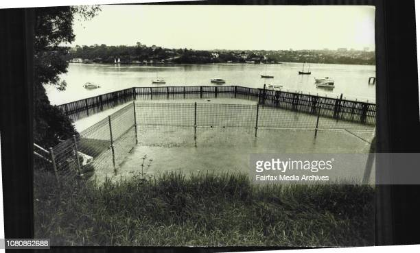 The Woolwich swimming pool on the Lane Cove river has been closed recently because of pollution in the riverThe Woolwich baths closed April 11 1974