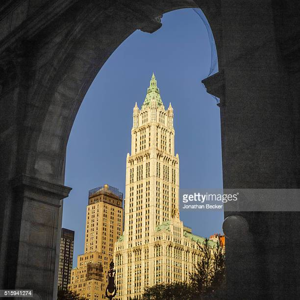 The Woolworth Building is photographed for Vanity Fair Magazine on August 14 2014 in New York City The Woolworth Building architect Cass Gilberts...
