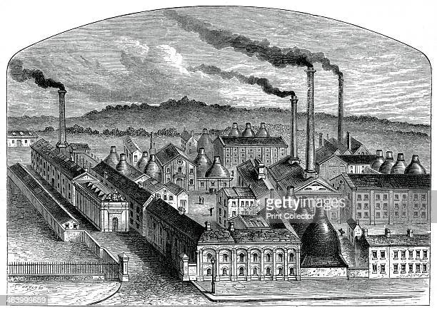 The Worcester Royal Porcelain Works c1880 A print from Great Industries of Great Britain Volume I published by Cassell Petter and Galpin