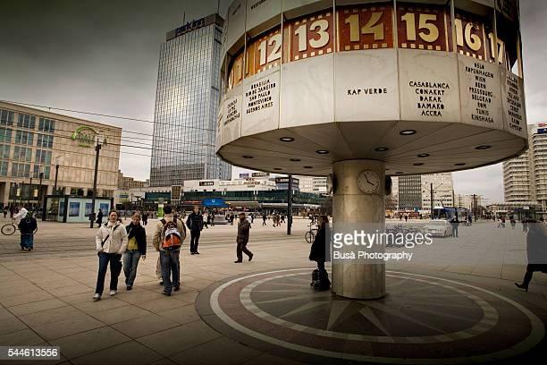 The Word Clock at Alexanderplatz, Berlin, Germany