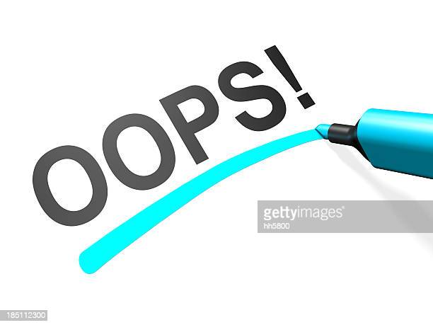 The word oops underlined in teal on a white background