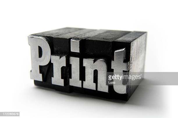the word print  - printing blocks - lino stock pictures, royalty-free photos & images