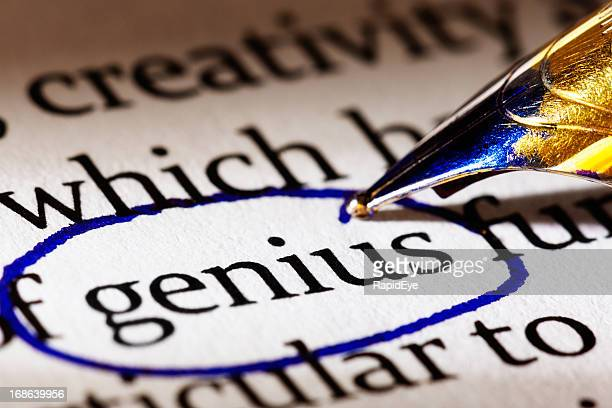 Le terme «talents» est encerclée dans un document imprimé