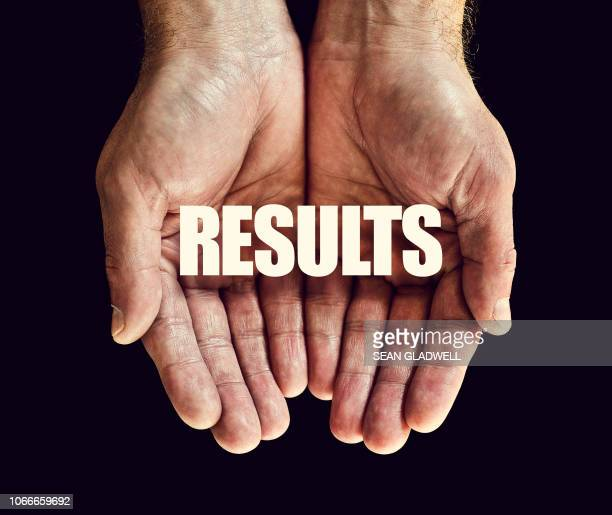 the word results in hands - test results stock pictures, royalty-free photos & images