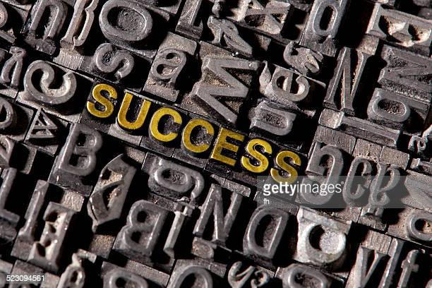 The word Success, made of lead type