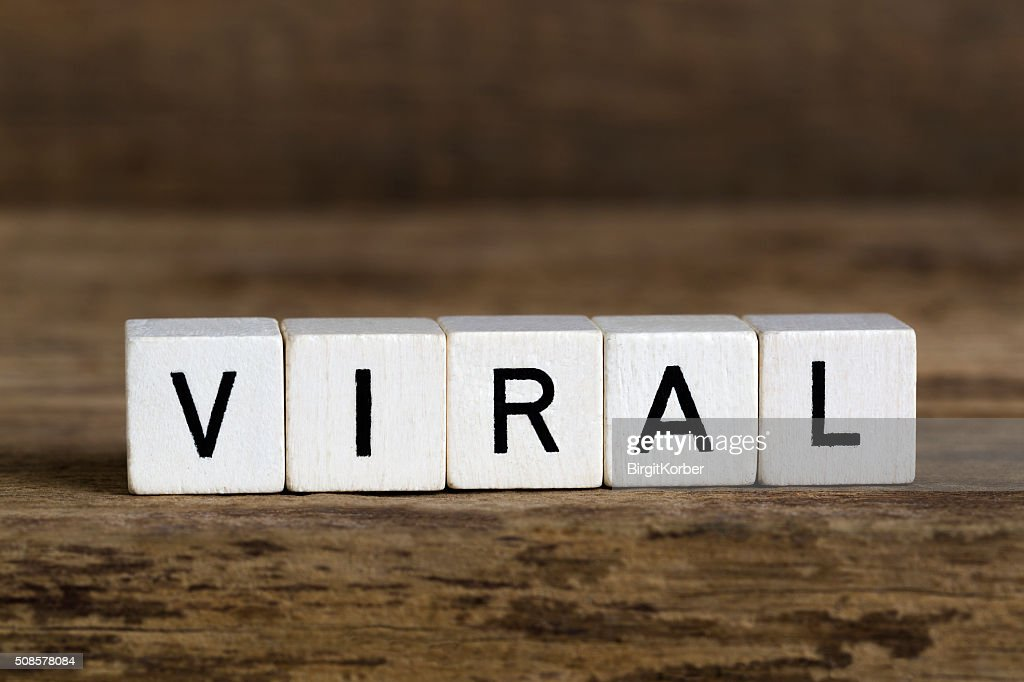 The word viral written in cubes : Stock Photo