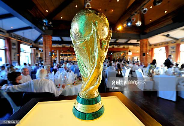 The Wordl Cup trophy is pictured during the German World Cup Team of 1990 Meeting to celebrate their 20th anniversary at Europapark on July 16 2010...