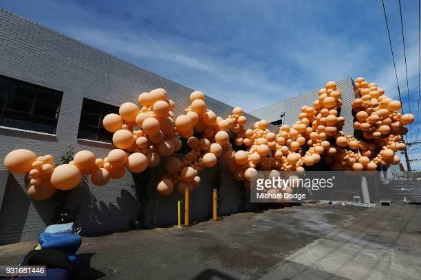 The work of Balloon designer Jihan Zencirli aka Geronimo is seen for Melbourne Design Week 2018 on March 14 2018 in Melbourne Australia The...