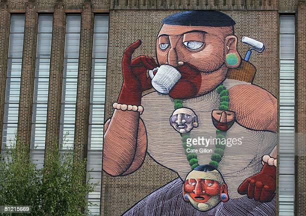 The work of Brazilian artist Nunca is exhibited as part of the new Street Art Show opening on May 23 2008 in London England Street Art exhibits the...