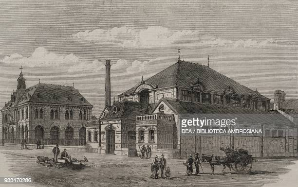 The Working Men's Institute and the Baths BarrowinFurness United Kingdom illustration from the magazine The Illustrated London News volume LX May 25...