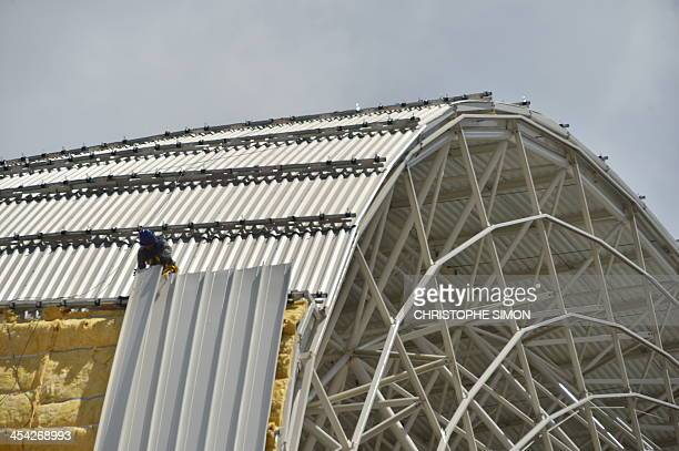 The works at the Arenas das Dunas stadium in Natal, northeastern Brazil, on December 8, 2013. The Arenas das Dunas will host some of the FIFA WC...