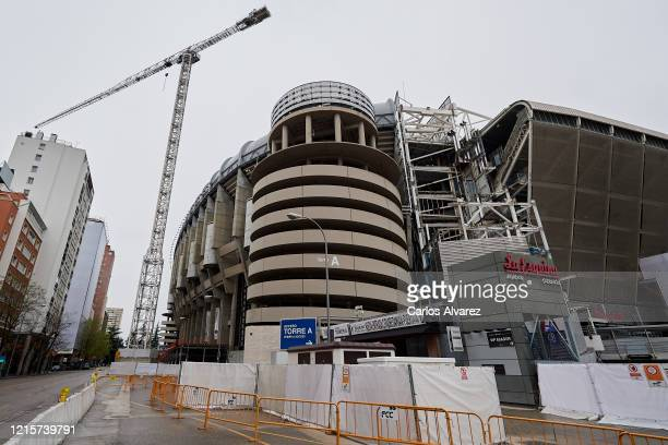The works at the Santiago Bernabéu stadium are stopped by the Coronavirus , due to an increase of confinement by the government on March 30, 2020 in...