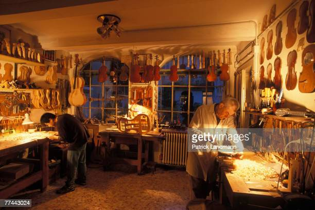 The workshop of the violin maker Istvan Konia one of the most picturesque in Cremona and which has practically not changed for 400 years The...
