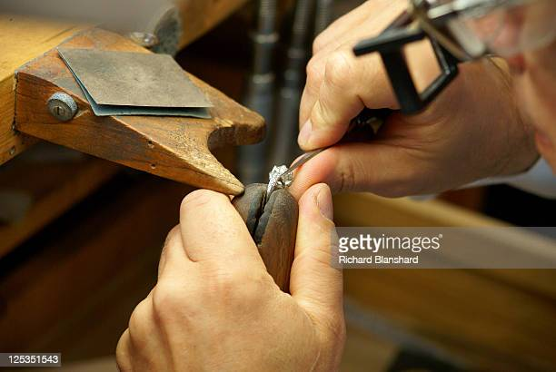 The workshop of Tiffany Co jewellers in New York City circa 2007
