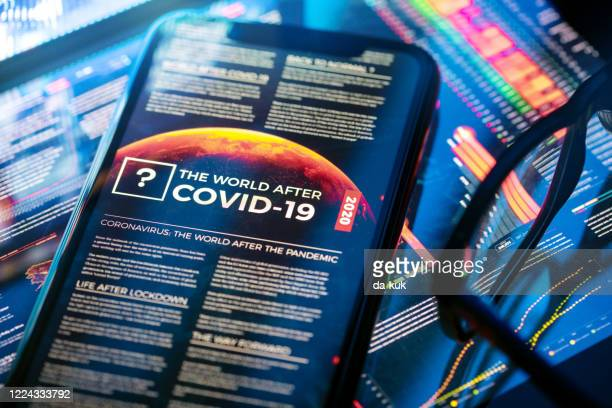 the world after covid-19 article - the media stock pictures, royalty-free photos & images