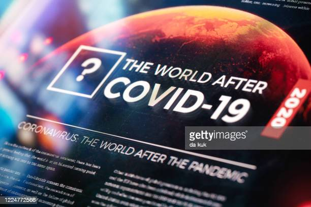 the world after covid-19 pandemic - new normal stock pictures, royalty-free photos & images