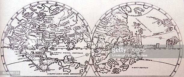 The World as Known on the Eve of the Discovery of America by Martin Behaim Dated 15th Century