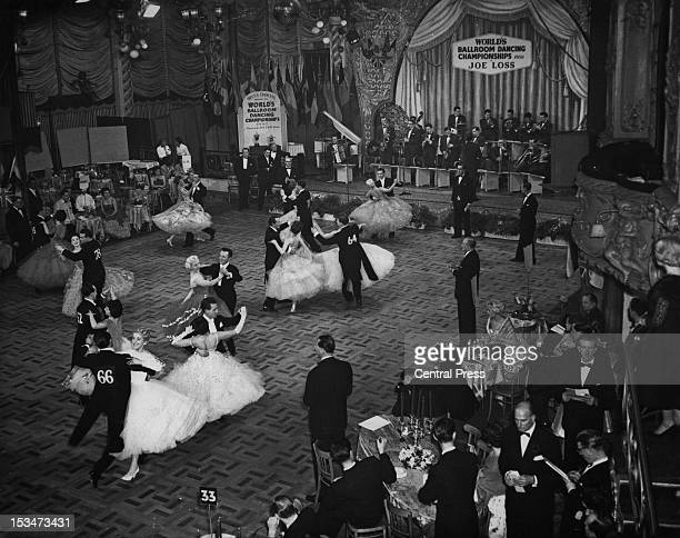 The World Ballroom Dancing Championships at the Lyceum Ballroom in London 10th March 1959 The Joe Loss Orchestra provide the music